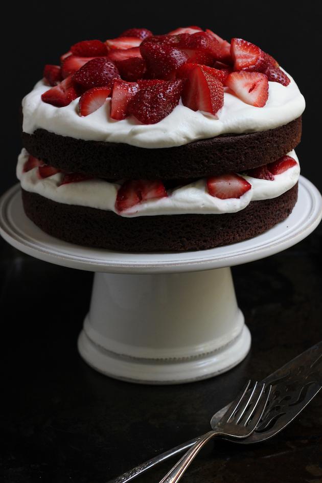 Strawberry Brownie Cake | Savor Home
