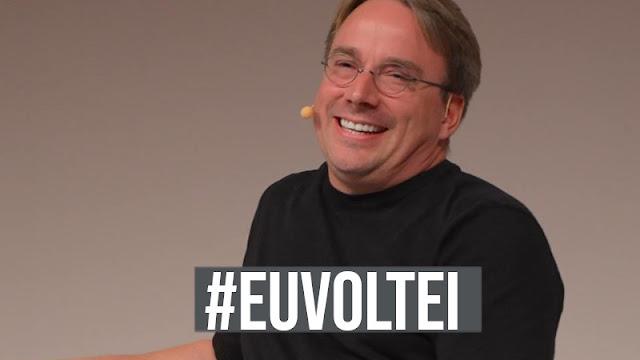 Linus Torvalds está volta ao comando do Linux #EUVOLTEI
