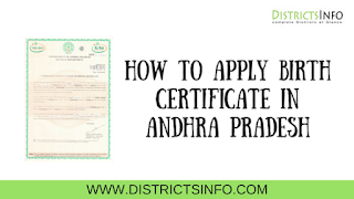How to apply birth Certificate in Andhra Pradesh