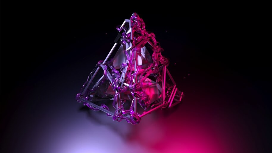 Digital Art, Pyramid, 4K, #4.322