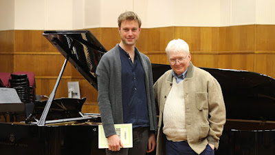 Benjamin Appl and Graham Johnson recording for the BBC in 2015