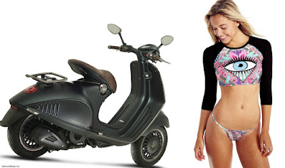 Vespa 946 Emporio Armani withe girl model
