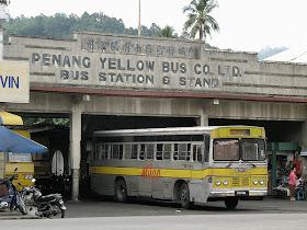 sejarah bas di pulau pinang, penang yellow bus, milan bas, bas kuning, pengangkutan di pulau pinang,
