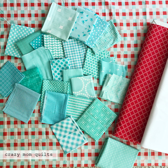 crazy mom quilts: fast four patch quilt top