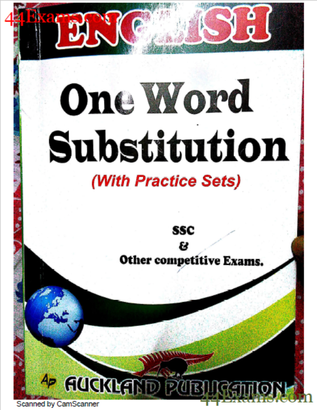 English One Word Substitution By Auckland Publication : For All Competitive Exam PDF Book
