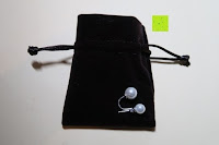 Säckchen Rückseite: YL Damen Doppel perlen Ohrringe 925 Sterling silber Süßwasser-Zuchtperlen Mode Ohrstecker