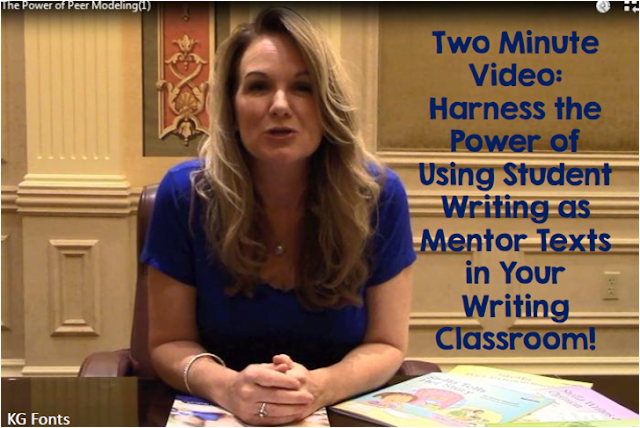 Two Minute Video featuring Janiel Wagstaff explaining the power of using students' own writing as mentor texts to teach writing in the classroom.