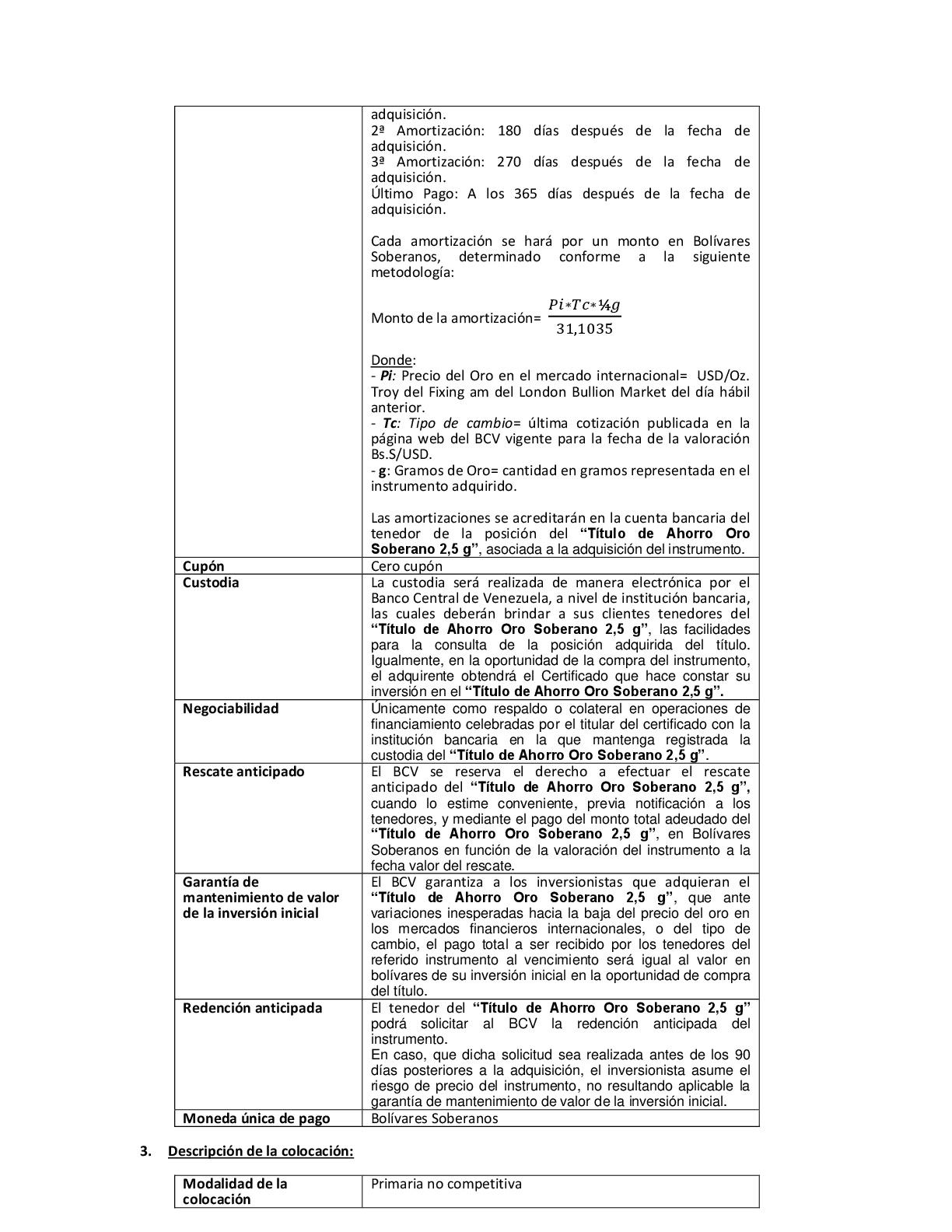 6c02509e8437 BCV. Plan de Ahorro en Oro. Comunicado No. 1 (31-08-2018)