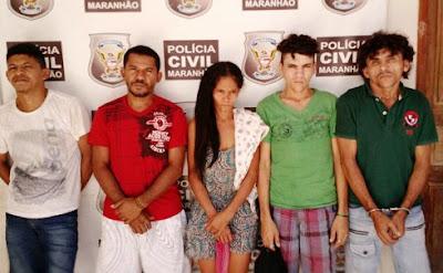 Cinco pessoas são presas por tráfico de drogas e porte ilegal de arma de fogo em Chapadinha