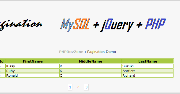 Simple Pagination using jquery,mySql and PHP - PHP Dev Zone
