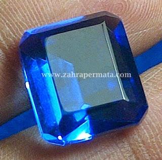 Batu Permata Blue Obsidian + Memo - ZP 339