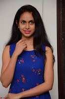 Pallavi Dora Actress in Sleeveless Blue Short dress at Prema Entha Madhuram Priyuraalu Antha Katinam teaser launch 078.jpg