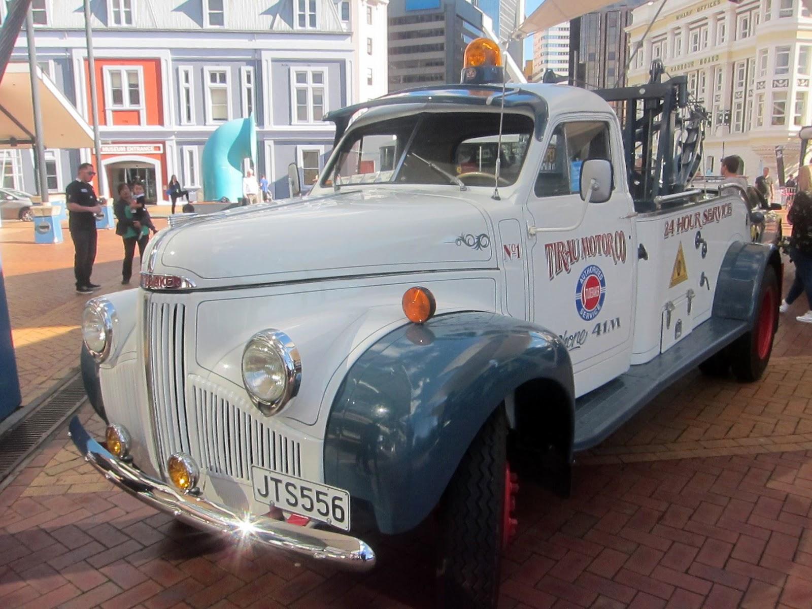 Transpress Nz 1947 Studebaker Tow Truck 1954 Ford