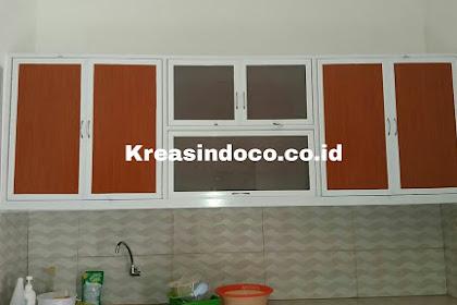 Kitchen Set Aluminium Pesanan Bu Cintya Perumahan Tirta Mas Residence Cimanggu Bogor