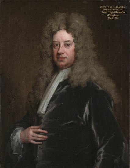 A portrait of John Somers, Baron Somers by Sir Godfrey Kneller, Bt © National Portrait Gallery, London This site has been given permission to use the image above by the National Portrait Gallery under Creative Commons Licence BY-NC-ND 3.0