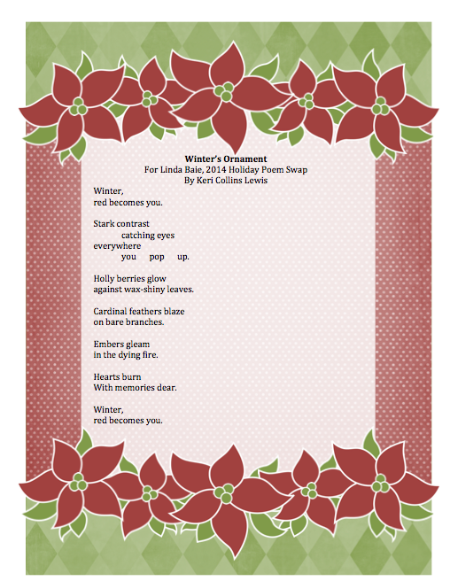 Teacherdance Poetry Friday Swap Appreciation This beautiful poem about winter captures the changing of time and generations with the assistance from a poem based on a berlin winter to a poet born in hamburg, germany, mueller's not only the. teacherdance poetry friday swap