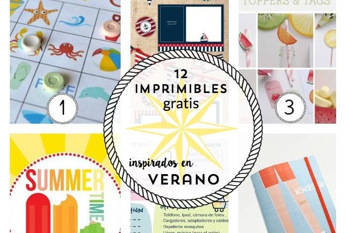 12 Imprimibles gratis: Inspirados en el verano
