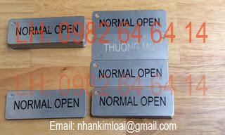 Inox Plate, Inox Name tag,Tem nhãn giá rẻ