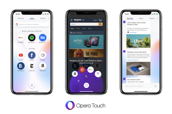 Opera Touch browser for iPhone released