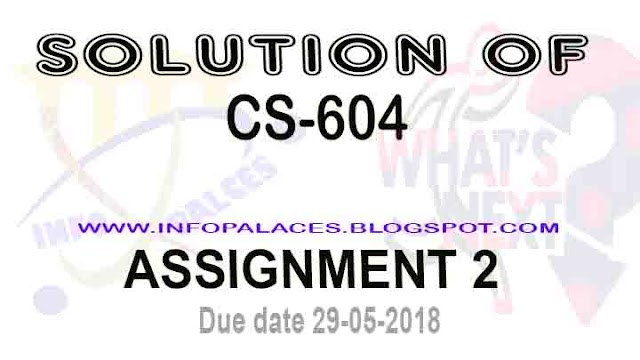 CS 604 Assignment No 2 Spring 2018 Solution