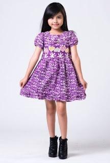 Model baju batik anak perempuan imut