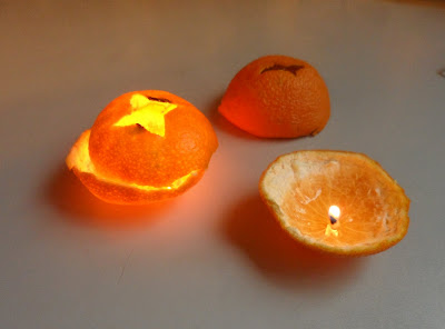 Clementine orange oil lamp candles mood lighting do it yourself craft