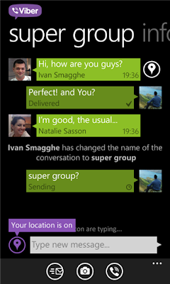Viber for Windows Phone 7.5 too updated with HD calling support