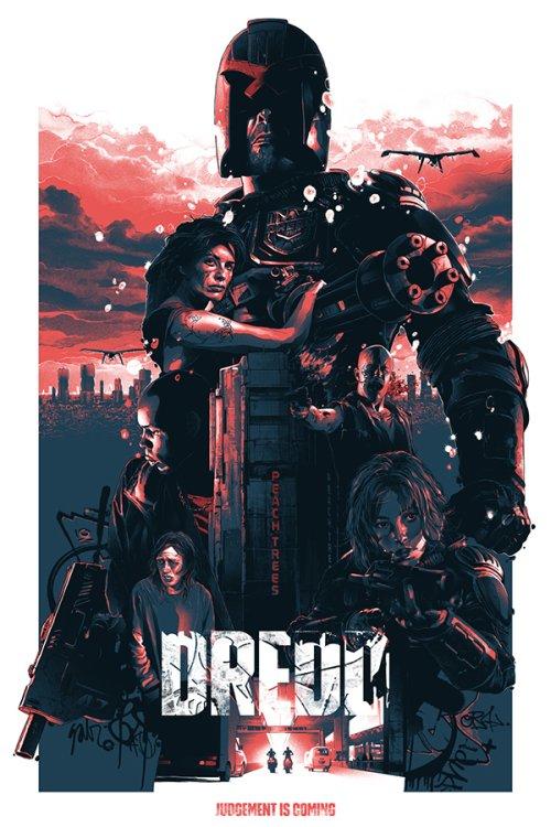 Grzegorz Domaradzki ilustrações cartazes pôsteres filmes arte cinema Dredd (Dredd: O Juiz do Apocalipse)