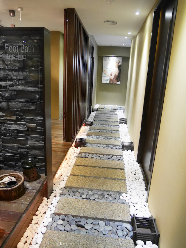 Serene, and well thought out walkway inside HerbaLine Facial Spa, Sojourn Guest House