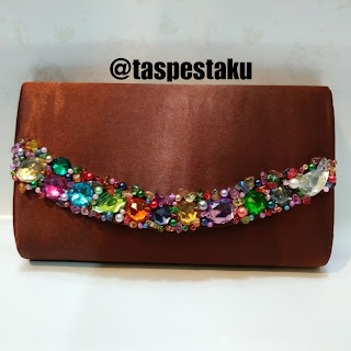 Tas Pesta Coklat Brown Hand Bag Buat Pesta Resepsi Pernikahan