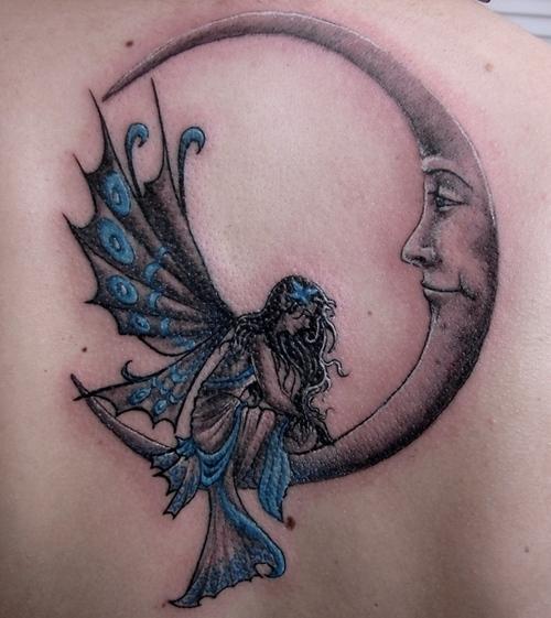dragon tattoos: Moon Tattoos Designs For Girls 2011