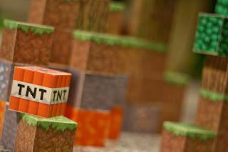 minecraft diy wooden blocks electronics LED lights