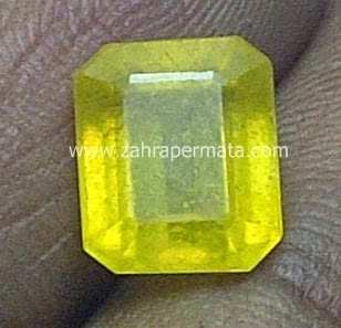 Batu Permata Yellow Saphire - ZP 443