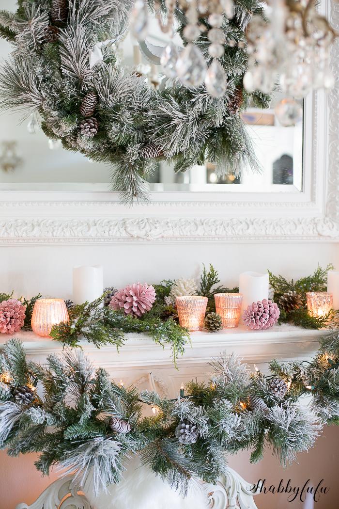 christmas-pink-shabbyfufu-mantel
