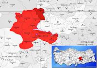 Arapgir ilçesinin nerede olduğunu gösteren harita