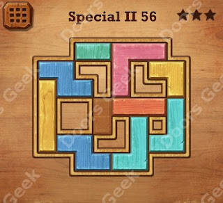 Cheats, Solutions, Walkthrough for Wood Block Puzzle Special II Level 56