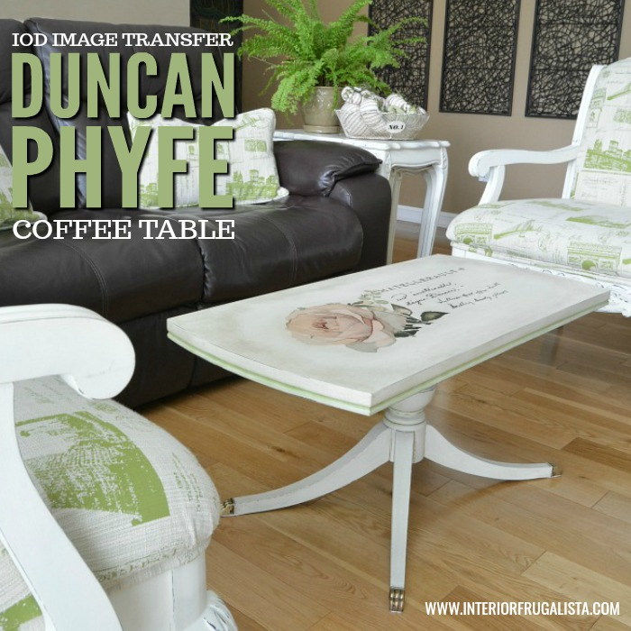 Furniture Transfer On Duncan Phyfe Style Coffee Table