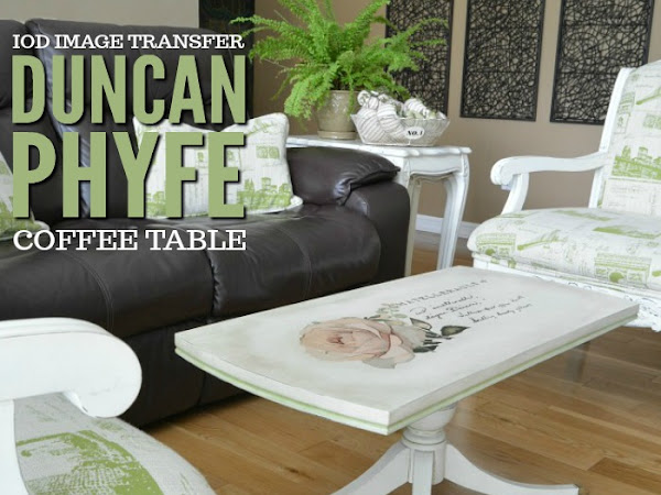 Image Transfer On Duncan Phyfe Style Coffee Table