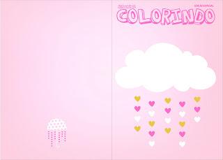 Imprimible carátula de libro para colorear de Lluvia de Bendiciones para Nena.