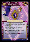 My Little Pony The Element of Generosity, A Beautiful Heart The Crystal Games CCG Card