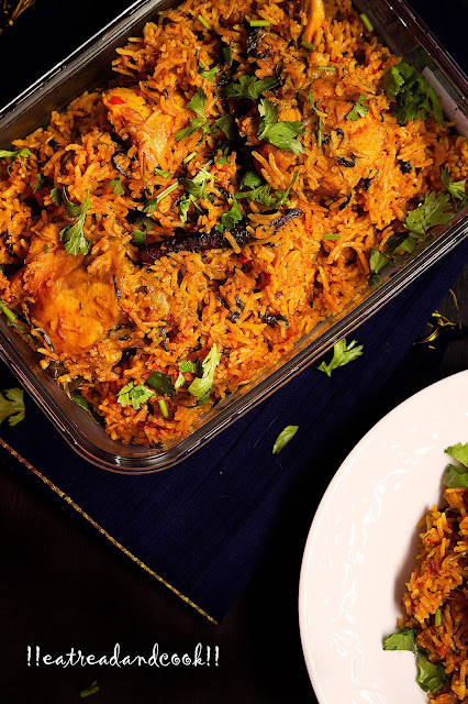 authentic Mughlai Chicken Pulao recipe with step by step pictures