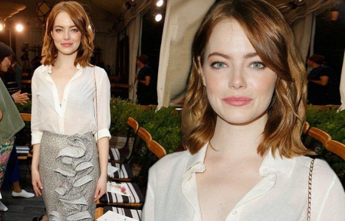 Best Dressed - Emma Stone Fascinated in Silver & White at Vogue PartyBest Dressed - Emma Stone Fascinated in Silver & White at Vogue Party, Indian fashion blogger, Fashion
