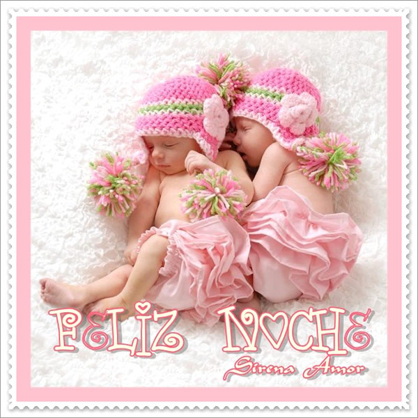 bebés durmiendo Feliz Noche