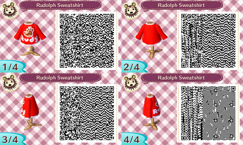 The Gay Gamer Anyone Up For A Few More Qr Codes Of Animal Crossing New Leaf Christmas Clothing Designs