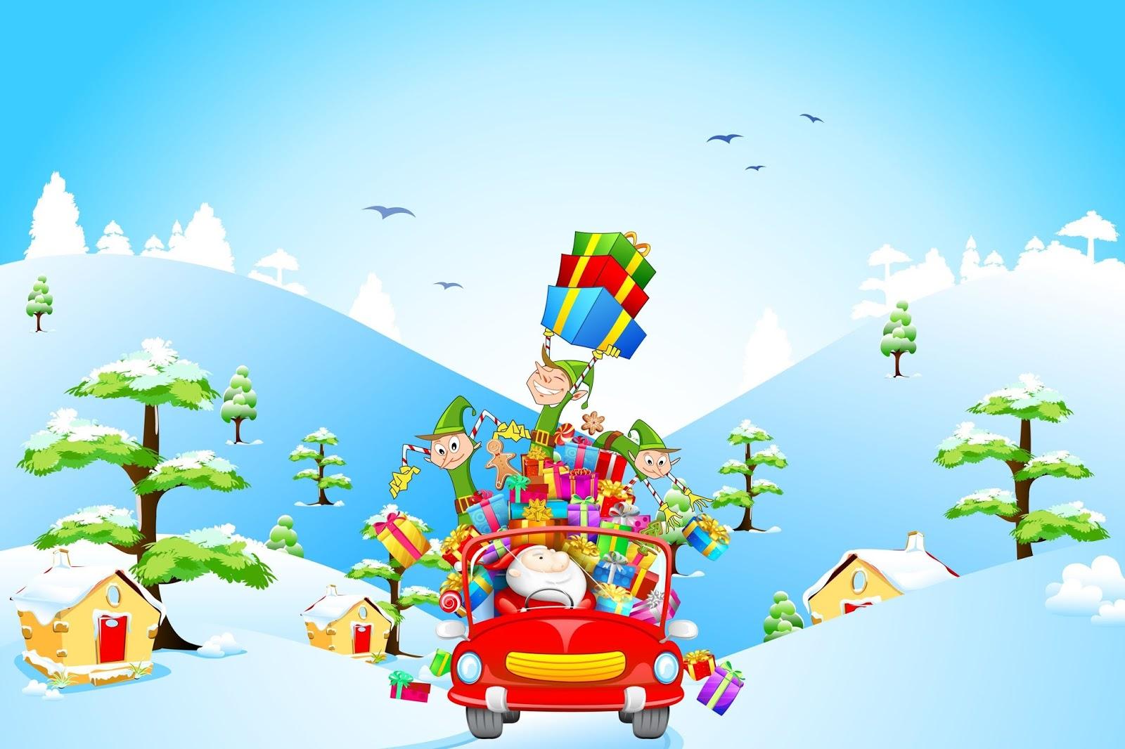 Aqui Hay Imagenes Bonitas De Navidad Para Fondo De: BANCO DE IMÁGENES: Bonito Fondo Navideño Con Santa Claus