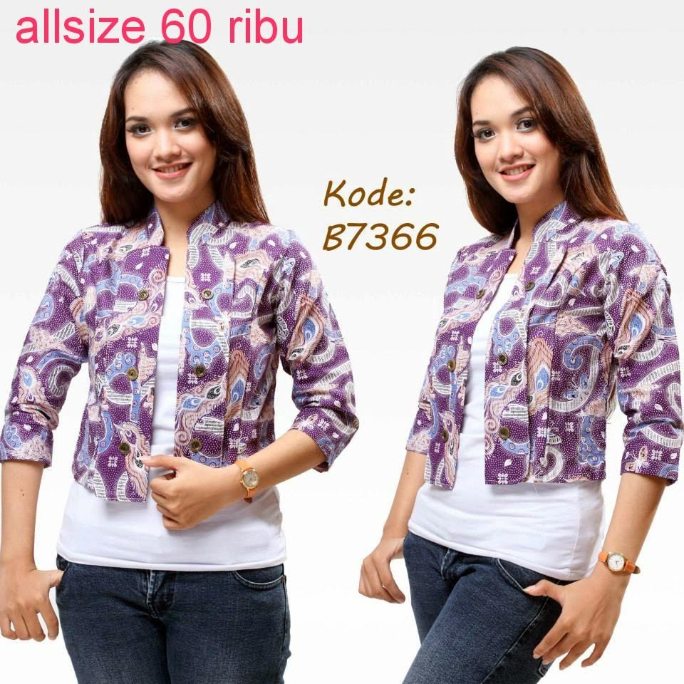 Trend Batik Kerja 2014: Model Baju Atasan Batik