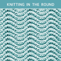 Eyelet Lace 45 -Knitting in the round