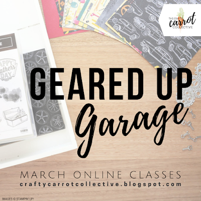 Paper craft Online Classes/Tutorials - The Crafty Carrot Co. MARCH 2019