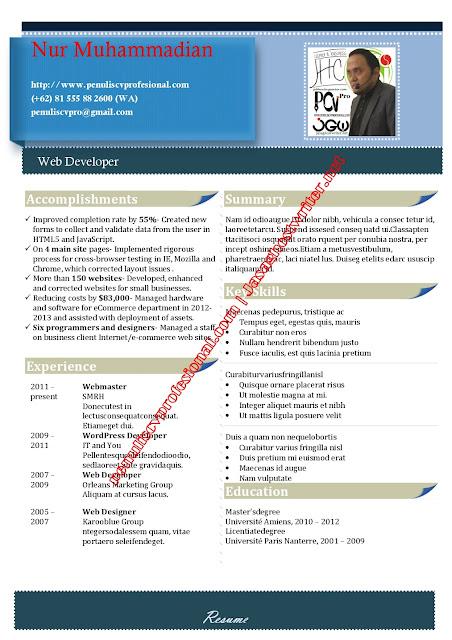 jasa pembuatan CV