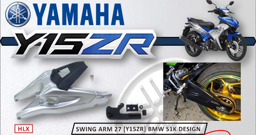 SWING ARM Y15ZR / Exciter 150 Model BMW S1K (Replica